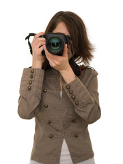 Girl with photocamera