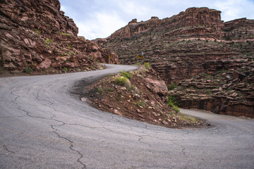 Road Switchbacks near Hunter Canyon