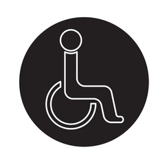 Handicap symbol icon vector