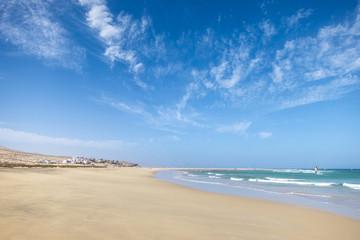 costa calma beach in fuerteventura island