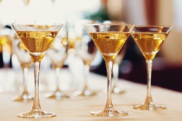 Celebration. Champagne glasses.