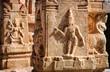 Indian ancient basrelief in Hampi