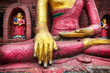 Leinwanddruck Bild - Buddha statue in Nepal