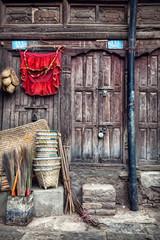 Wooden house in Kathmandu