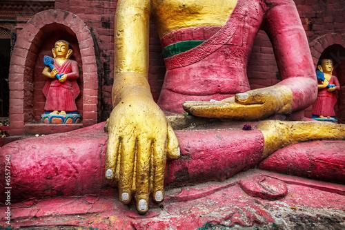 Tuinposter Nepal Buddha statue in Nepal