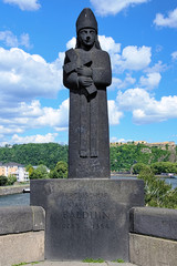 Sculpture of archbishop-elector Baldwin in Koblenz, Germany