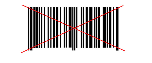 Abstract barcode security pattern  on white background