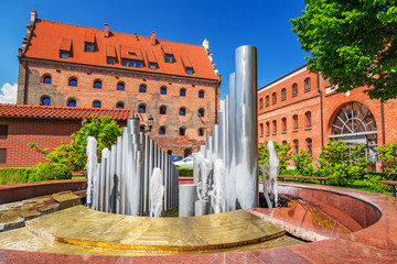 Fountain at the Baltic Philharmonic in Gdansk, Poland