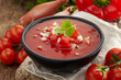 Fresh tomato soup Gazpacho