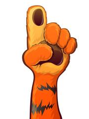Tiger Raise Hand