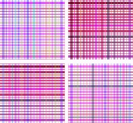 Set of striped seamless colourful pattern
