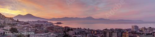 In de dag Zalm Panorama di Napoli