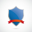 Blue Silver Protection Shield Red Flag