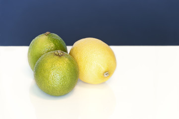 Two limes and a lemon