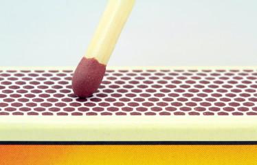 Match , extreme macro image