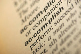 Word accomplish in a dictionary poster