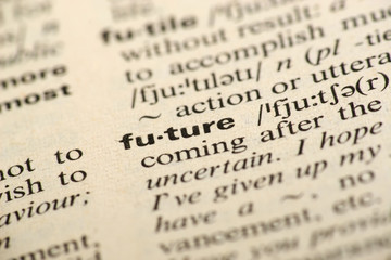 Word future in a dictionary