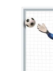 Fußballtor isoliert auf weiß