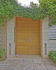 Modern house door, Athens suburbs, Greece