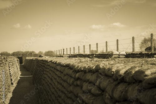 Foto Spatwand Vestingwerk Trench of death world war 1 belgium flanders fields