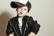 Funny little boy.Hip-Hop Style. fashion children.4 years old