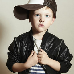 Funny little boy.Hip-Hop Style.fashion children.Boy.Young Rapper