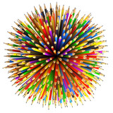 Fototapety Pencils Abstract Background