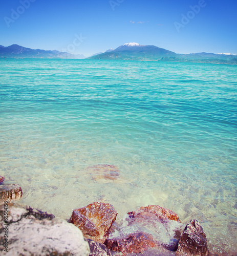 canvas print picture Gardasee