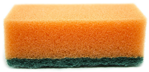 orange sponge isolated on white