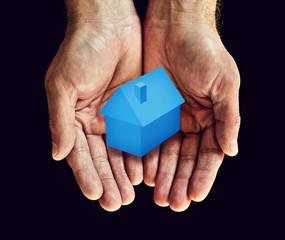 hands blue home