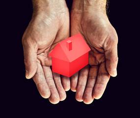 hands red home
