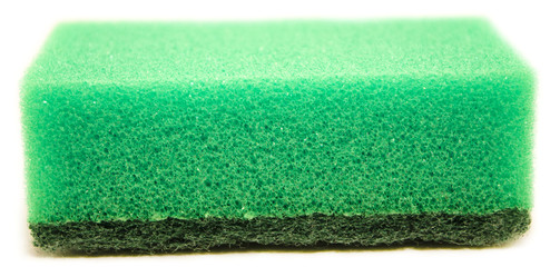 green sponge isolated on white