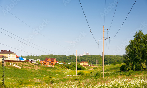 Town houses in the nature