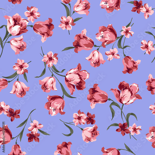 シームレスな花柄