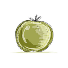 Sketch of apple for your design