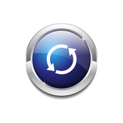 Reset Sync Circular Vector Blue Web Icon Button