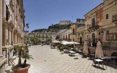Italy, Sicily, Scicli, view of Mormino Penna Street