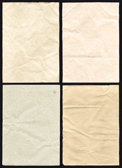 Four Crumpled Paper Texture