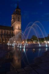 Magdeburg Domplatz bei Nacht