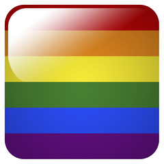 Glossy icon with flag of Pride