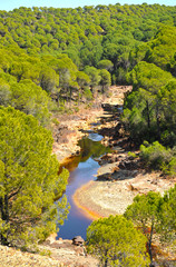 Paisaje del Río Tinto, Huelva, España