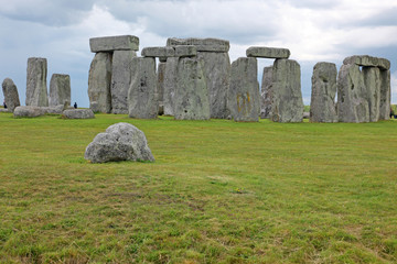 Big old stone at Stonehenge historic site. Stonehenge is a UNESC