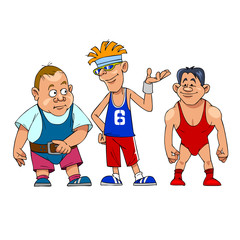 cartoon characters athletes