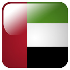 Glossy icon with flag of United Arab Emirates