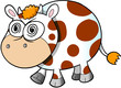 Crazy Insane Cow Vector Illustration Art