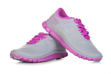 Purple sport shoes