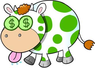 Cash Cow Vector Illustration Art