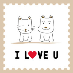Dog and Cat in love1