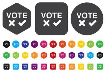 Validation sign, vote icon