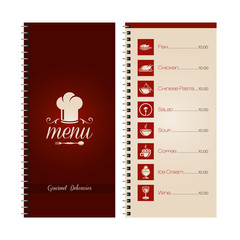 Restaurant or cafe menu